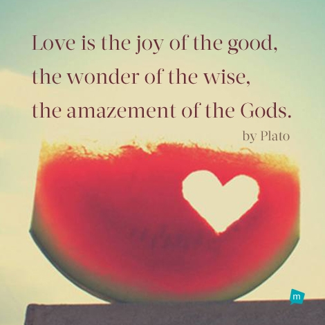 Love is the joy of the good, the wonder of the wise, the amazement of...
